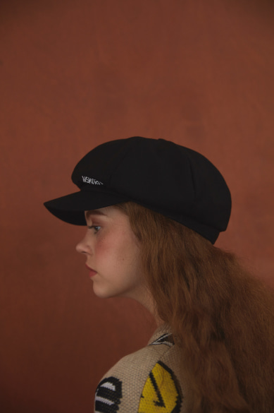 MSKN2ND LOGO NEWSBOY CAP BLACK