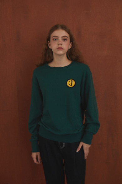 SM:]E PATCH SWEATSHIRT DARK GREEN