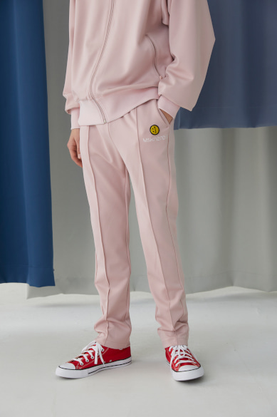 SM:]E PATCH TRACK PANTS BABY PINK